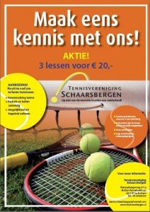 flyer tennislessen 2011